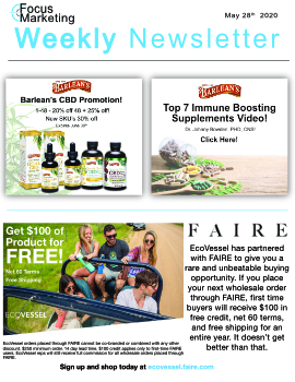Focus Marketing May 28th, 2020 Weekly Newsletter